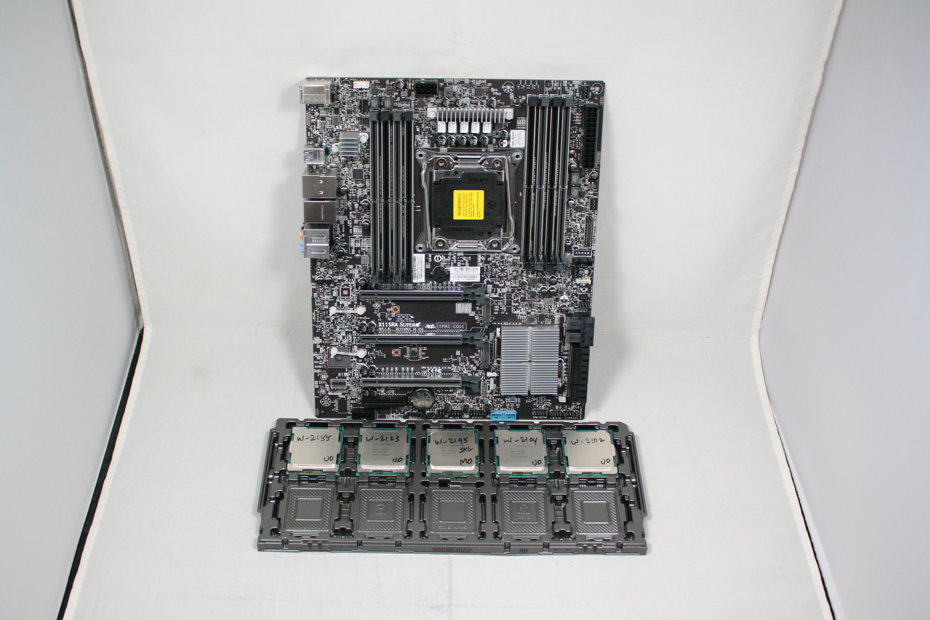 The Intel Xeon W Review: W-2195, W-2155, W-2123, W-2104 and