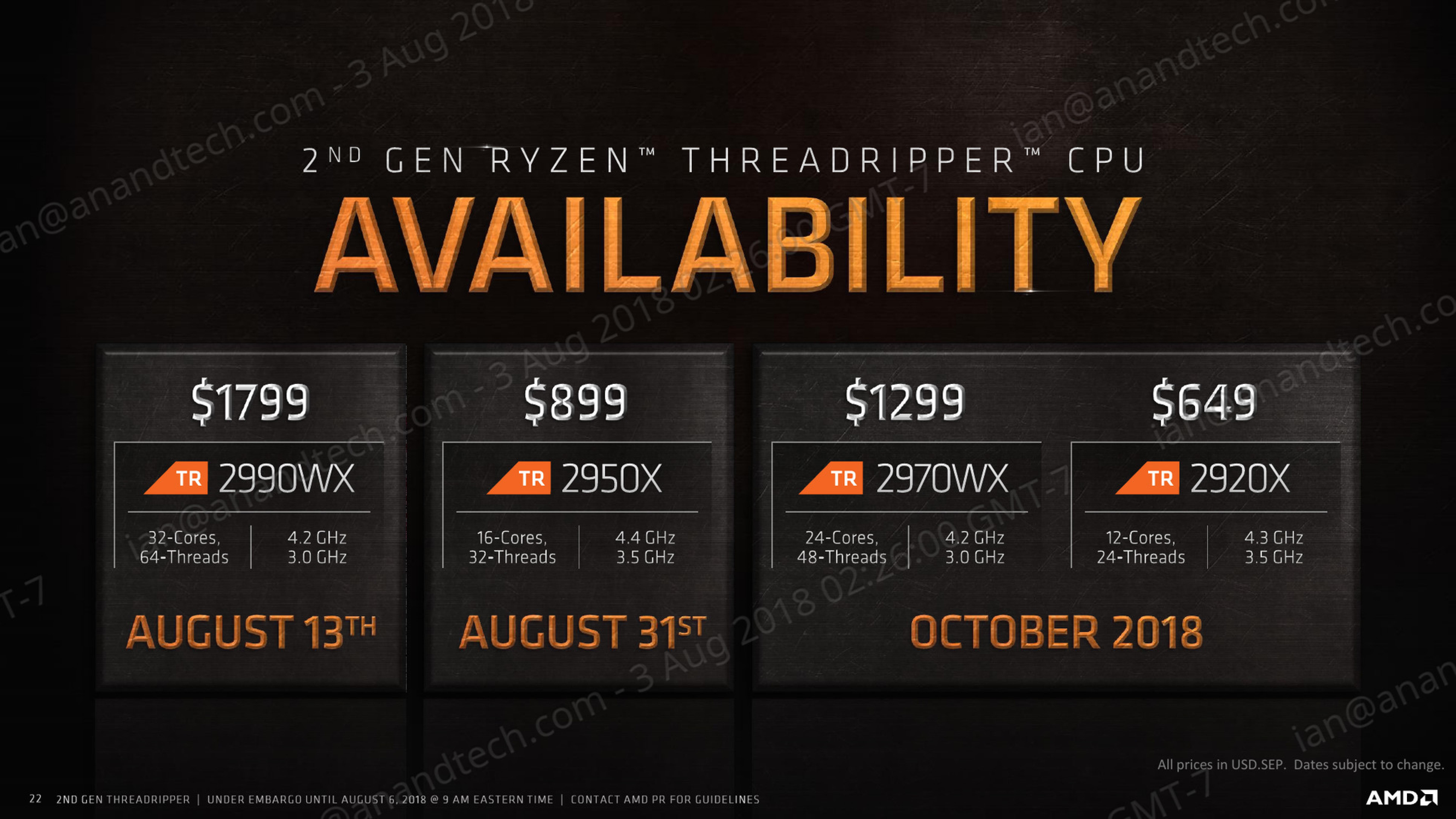 The AMD Threadripper 2990WX 32-Core and 2950X 16-Core Review