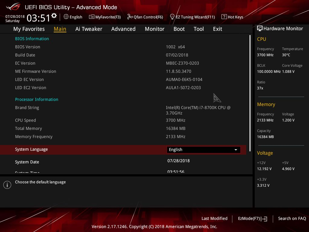 BIOS and Software - The ASUS ROG Strix Z370-F Gaming Review