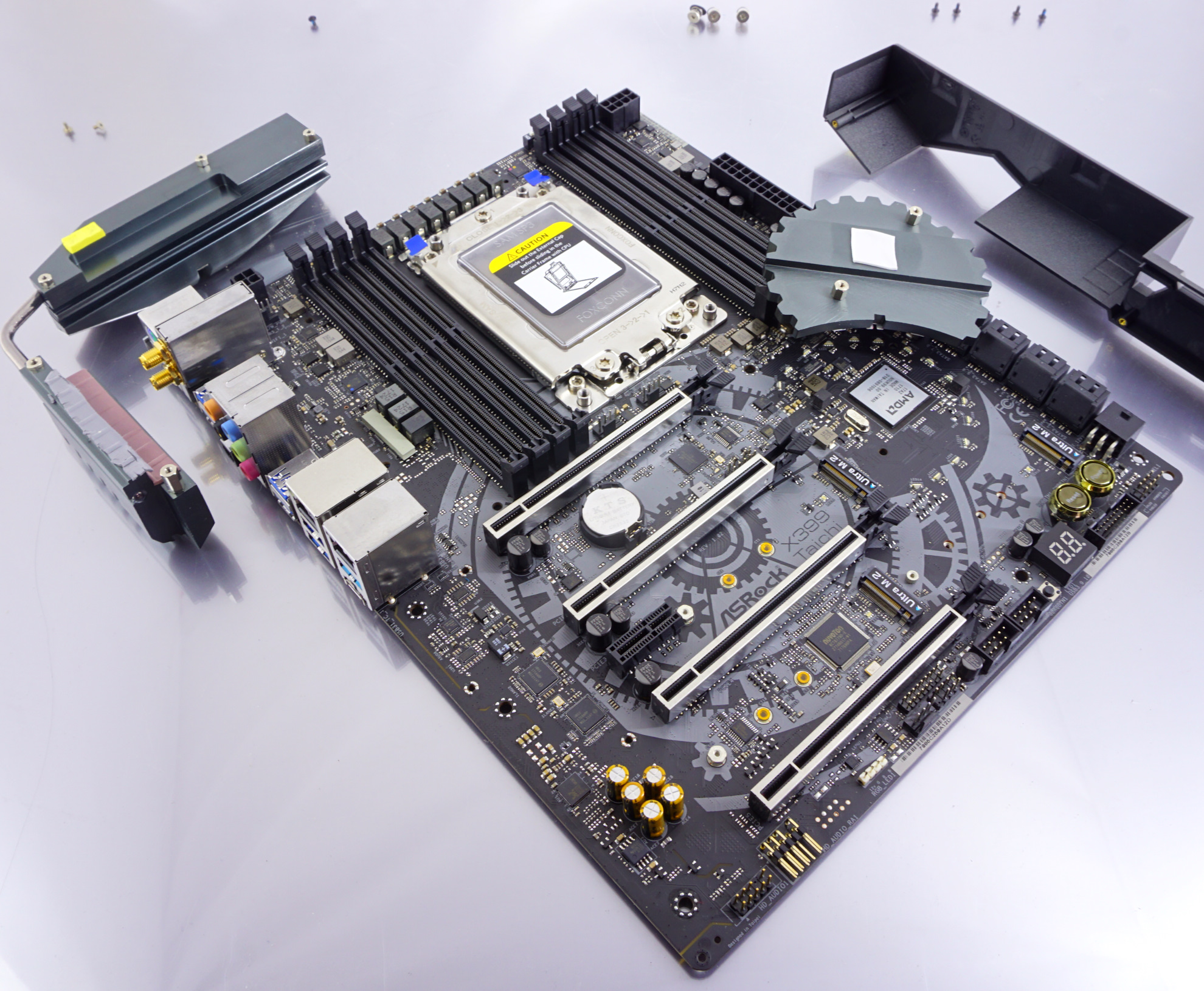 Visual Inspection - The ASRock X399 Taichi Motherboard