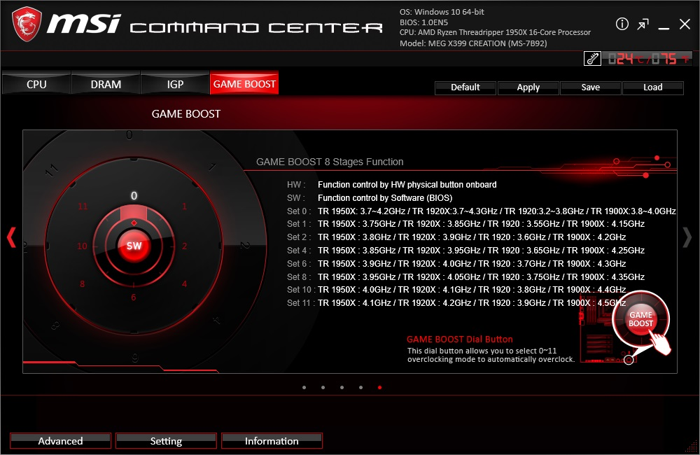 BIOS and Software - The MSI MEG X399 Creation Motherboard