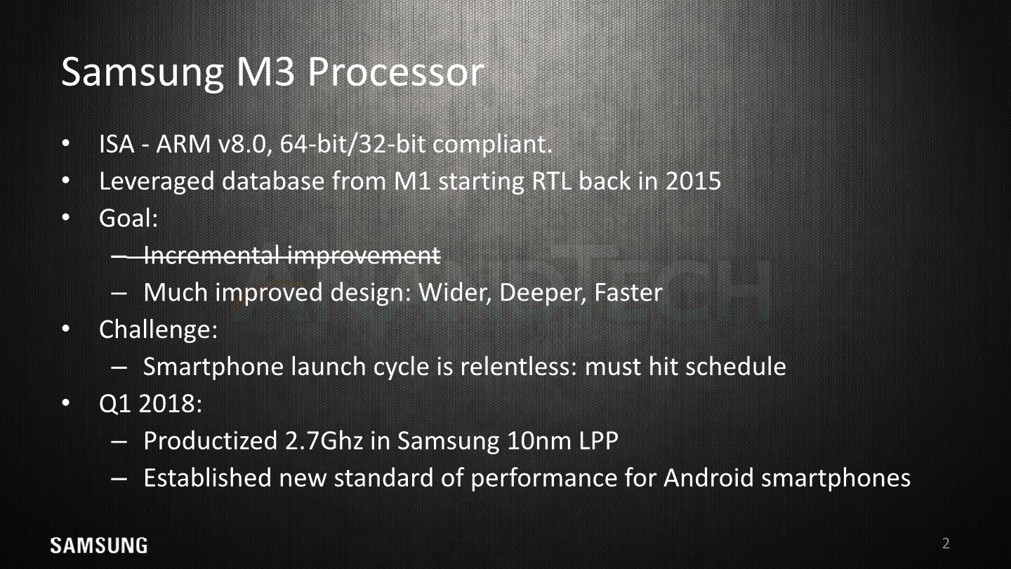 Hot Chips 2018: Samsung's Exynos-M3 CPU Architecture Deep Dive