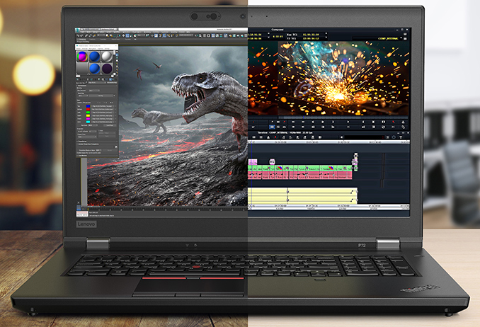 Lenovo's Unveils ThinkPad P72 Workstations: Thinner DTR with Intel