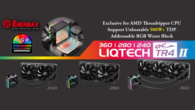 Enermax Unveils LiqTech TR4 II LCS: A 500W TDP Threadripper 2 Cooler