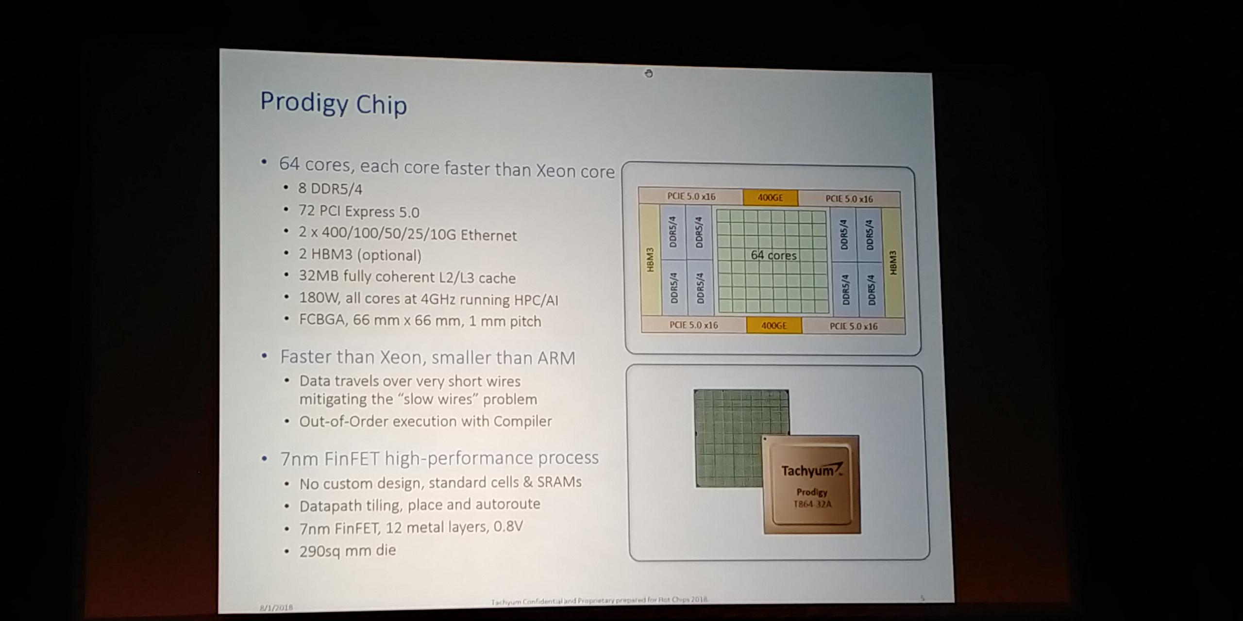 Hot Chips 2018: Tachyum Prodigy CPU Live Blog