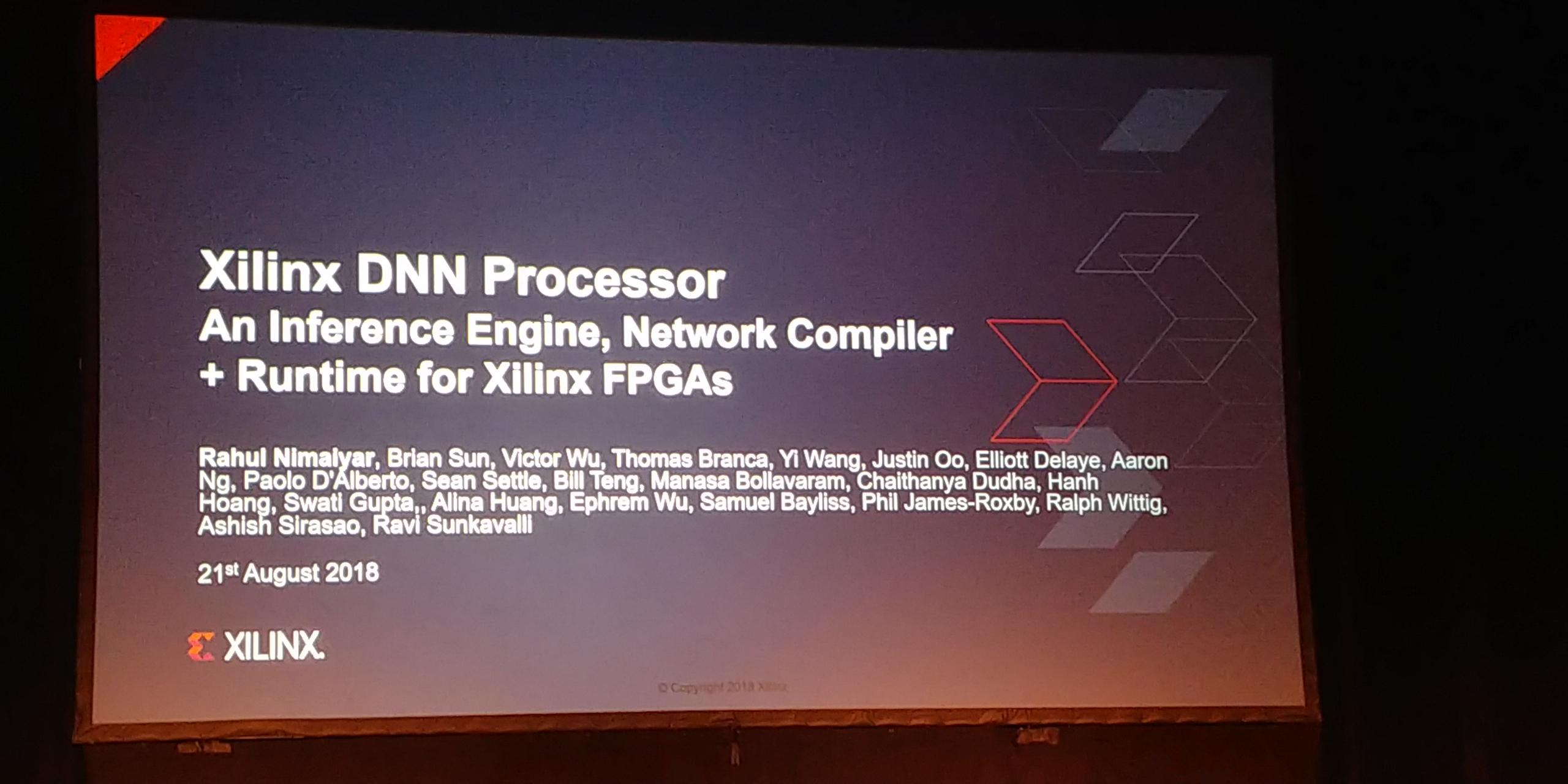 Hot Chips 2018: Xilinx DNN Processors Live Blog