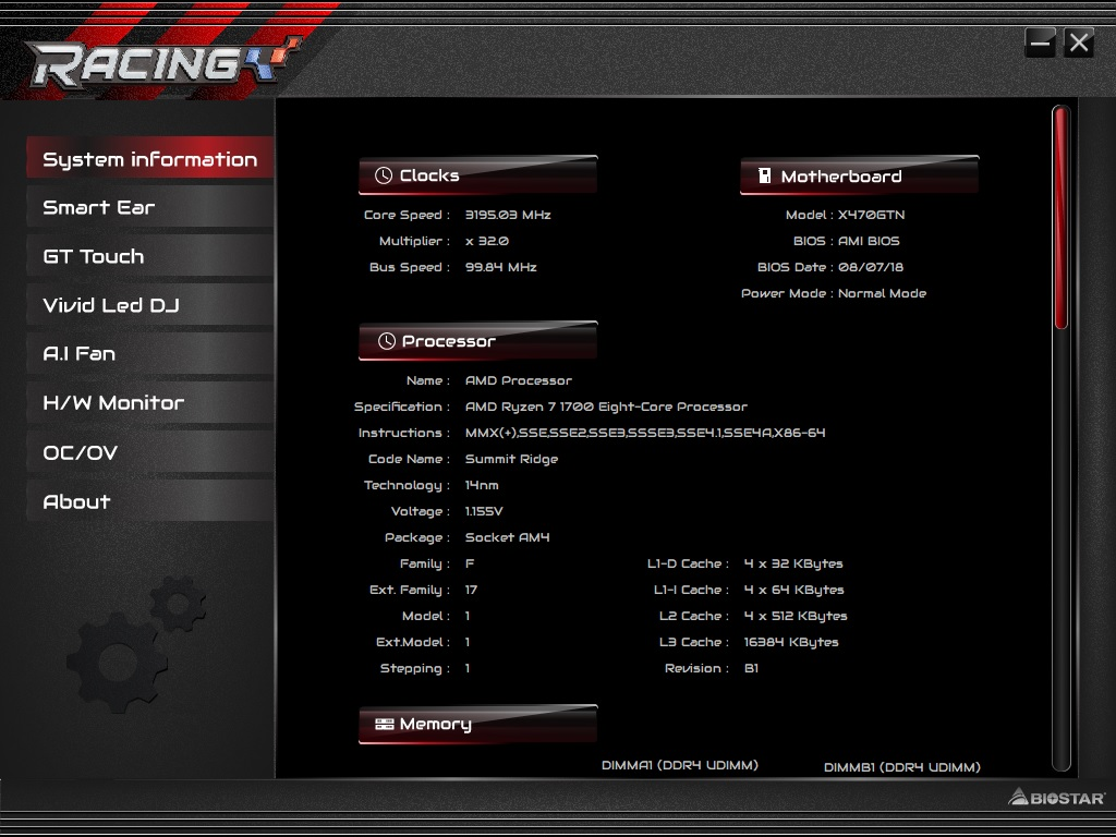 BIOS and Software - The Biostar X470GTN Motherboard Review