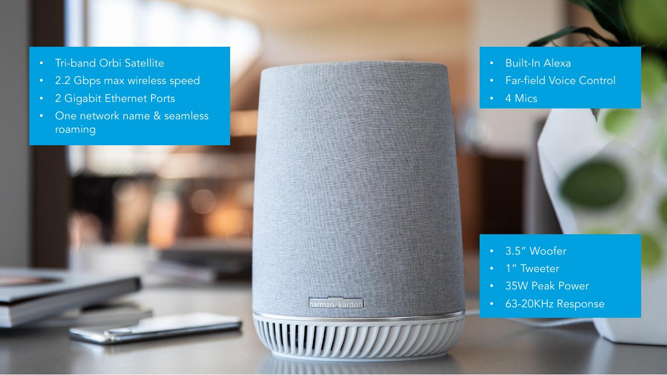 Netgear's Orbi Voice Melds Mesh Wi-Fi with Smart Speakers