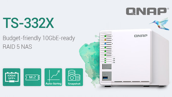 QNAP Announces TS-332X Three-Bay NAS with 10 GbE