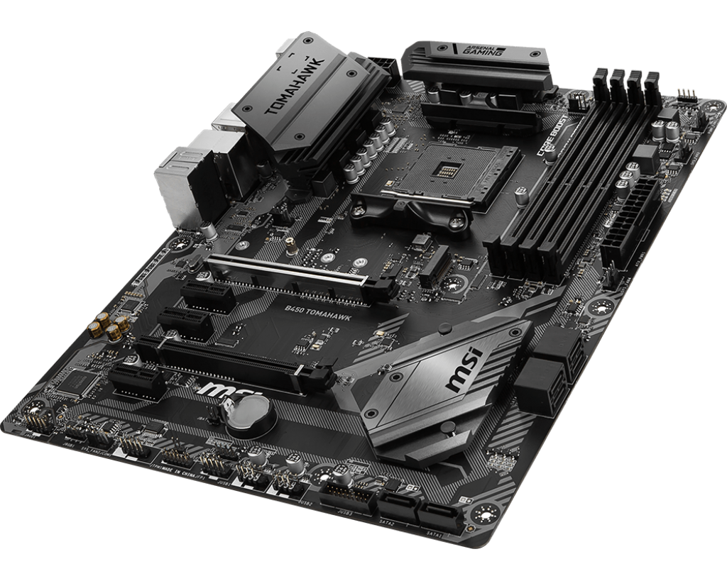 Visual Inspection - The MSI B450 Tomahawk Motherboard Review