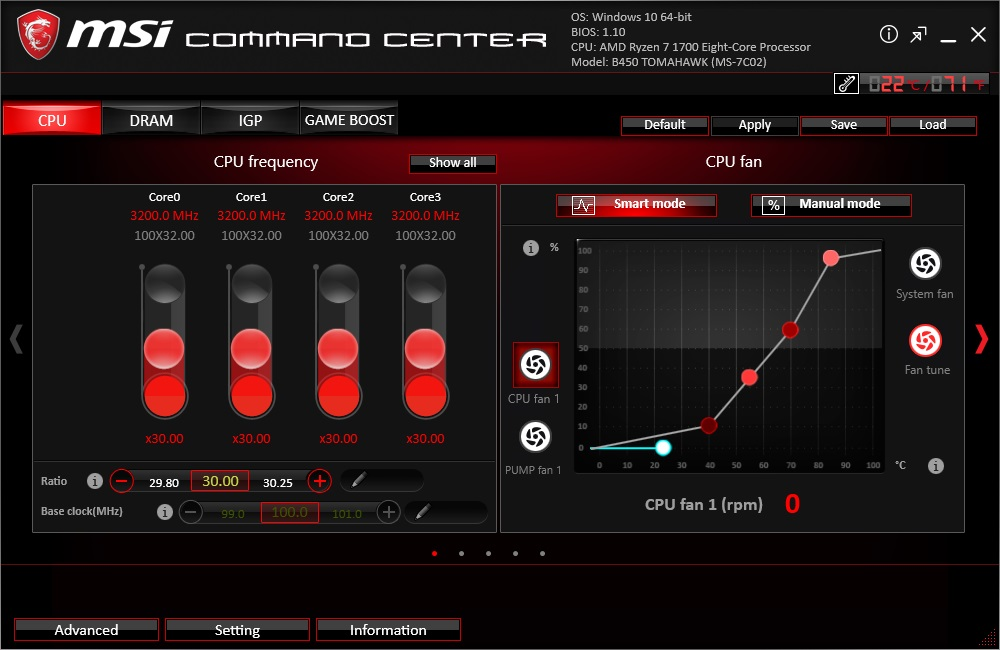 BIOS And Software - The MSI B450 Tomahawk Motherboard Review