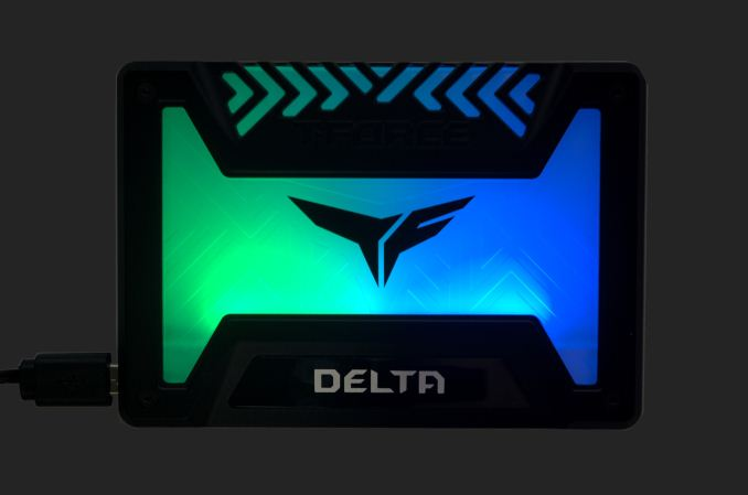 The Team Group Delta RGB SSD Review: Lite Performance, Light Drive