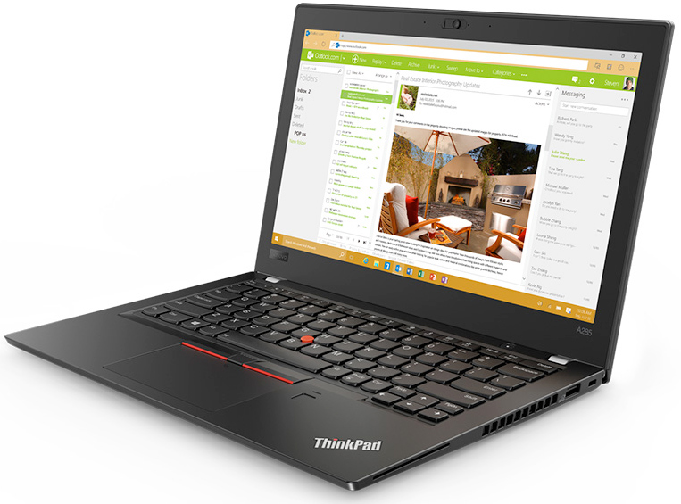 Lenovo Launches 12 5-Inch ThinkPad A285 with AMD Ryzen PRO APUs