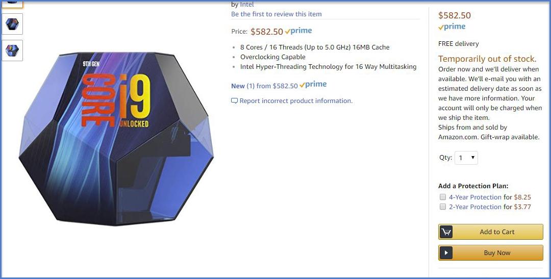 Intel Announces 9th Gen Core CPUs: Core i9-9900K (8-Core