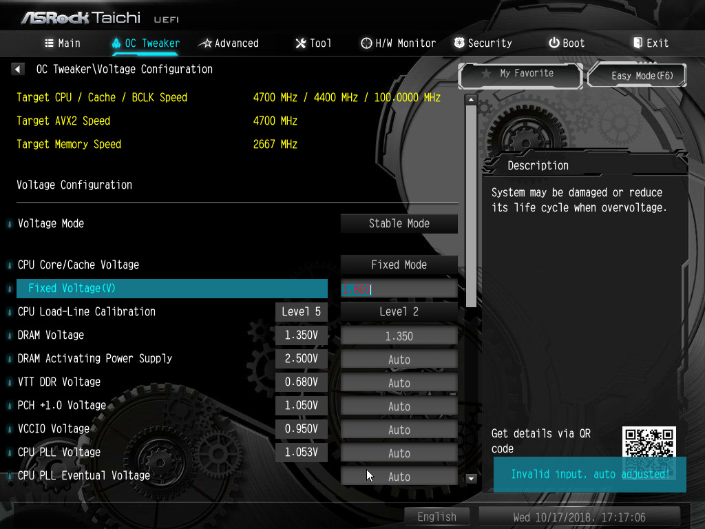 Overclocking With The i7-8700K - The ASRock Z390 Taichi