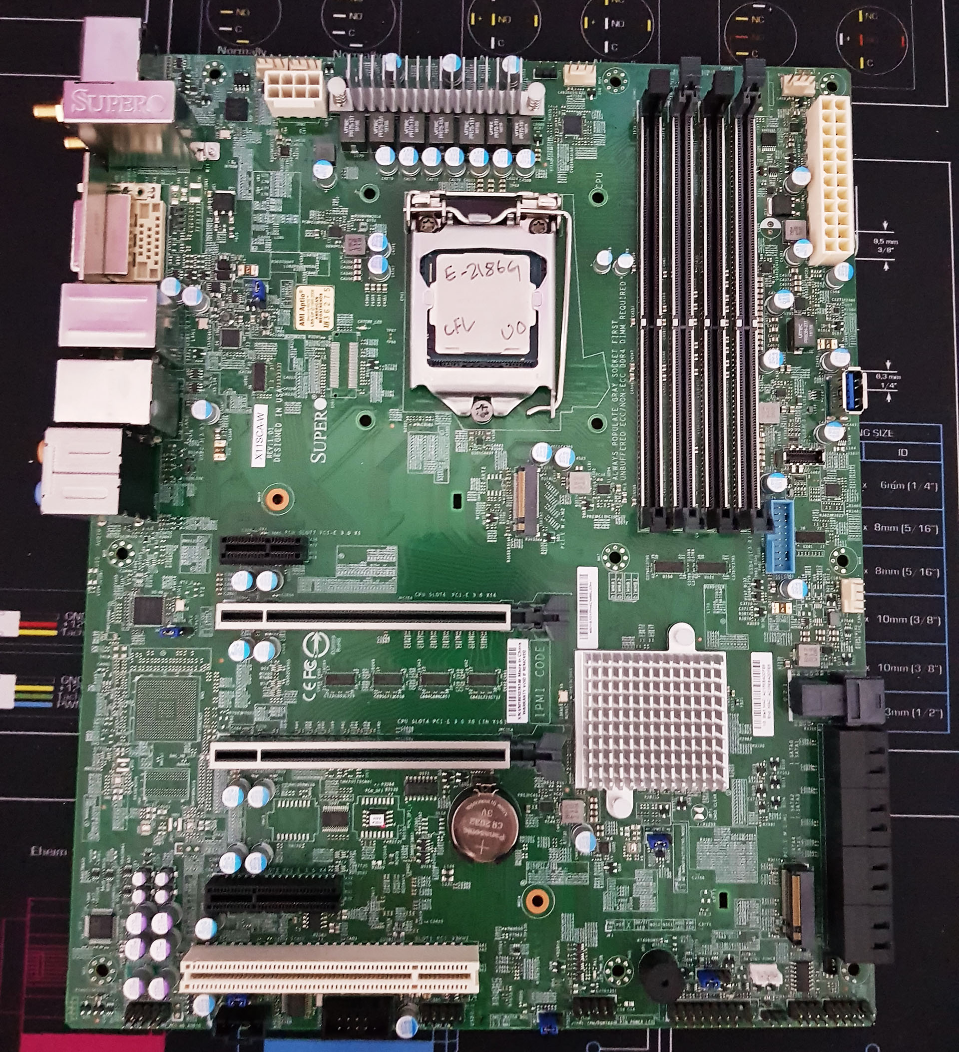 Visual Inspection - The Supermicro X11SCA-W Motherboard