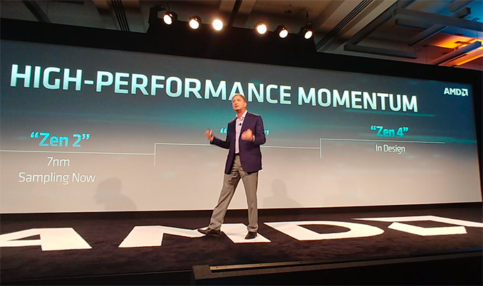AMD unveils 64-core Zen 2 CPU, first 7nm GPU