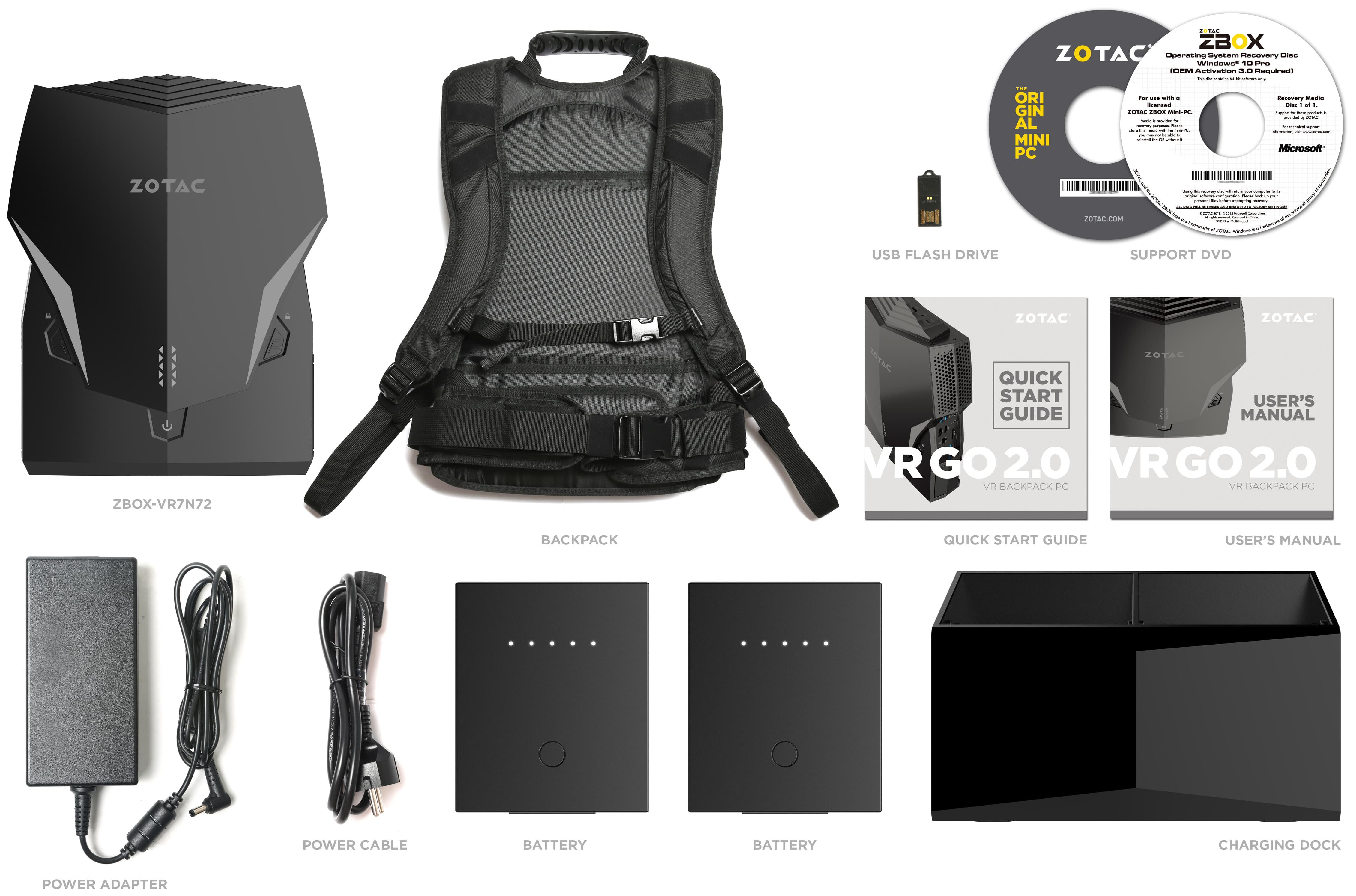 ZOTAC Unveils VR GO 2 0 Wearable PC: Core i7-8700T Meets
