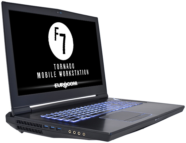 Eurocom Launches Tornado F7W DTR Laptop: Desktop Core i9-9900K with