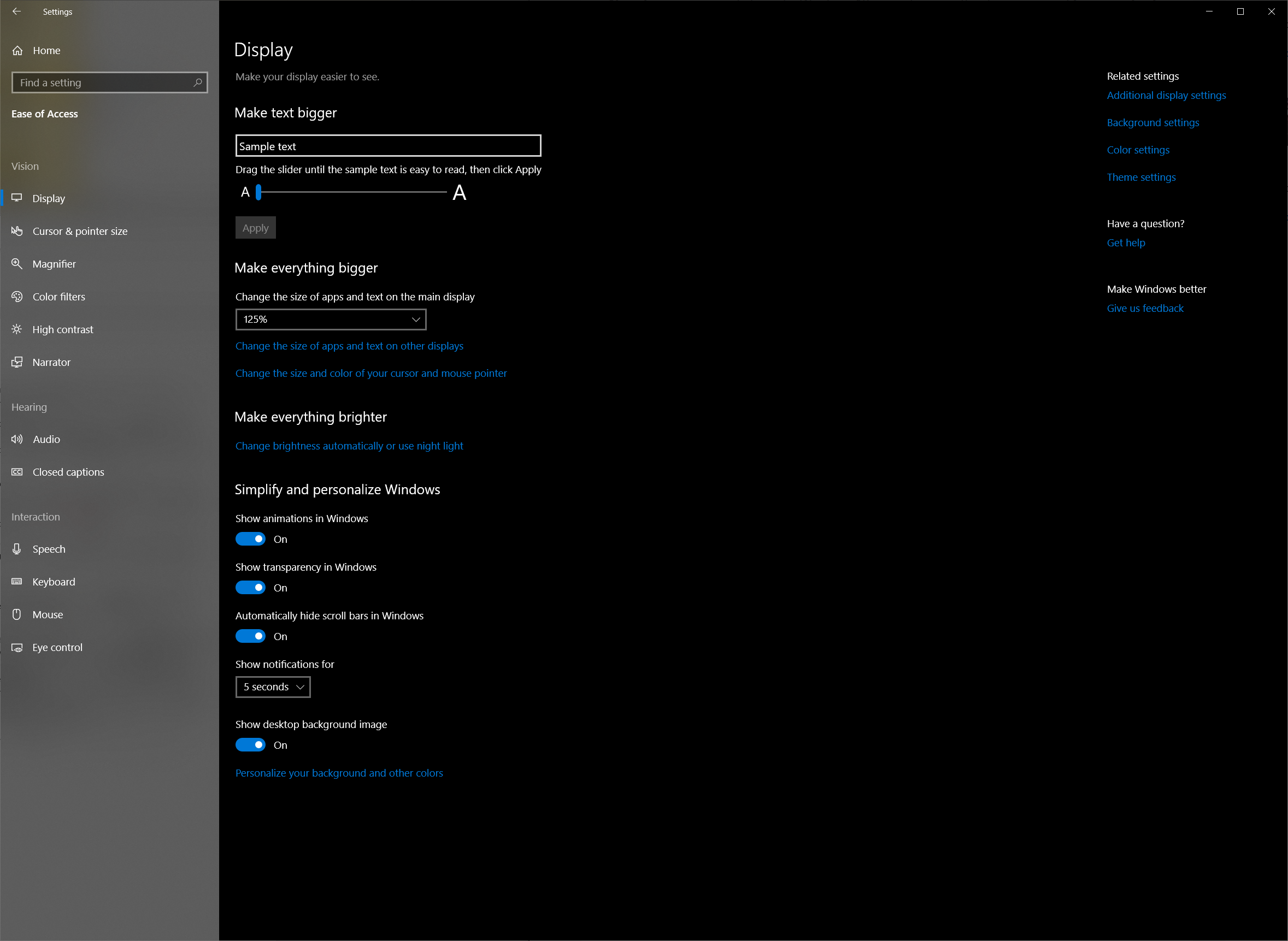 Accessibility and Typing Updates - The Windows 10 October