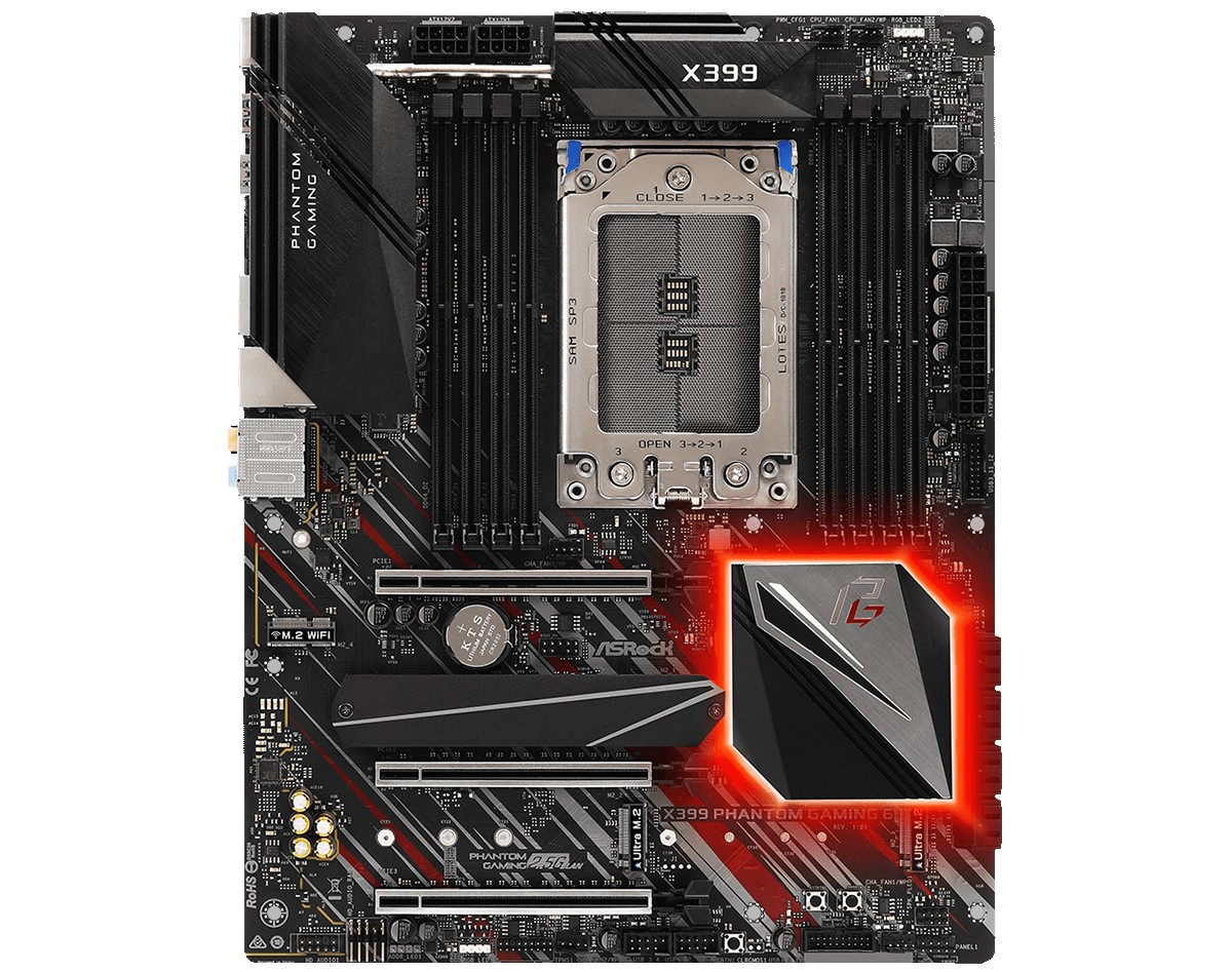 ASRock Launches The New X399 Phantom Gaming 6 Motherboard