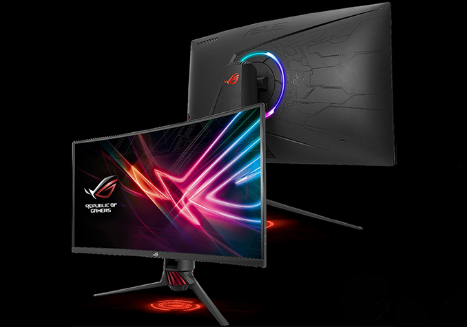 ASUS Lists ROG Strix XG32VQR Curved FreeSync 2 Display with RGB