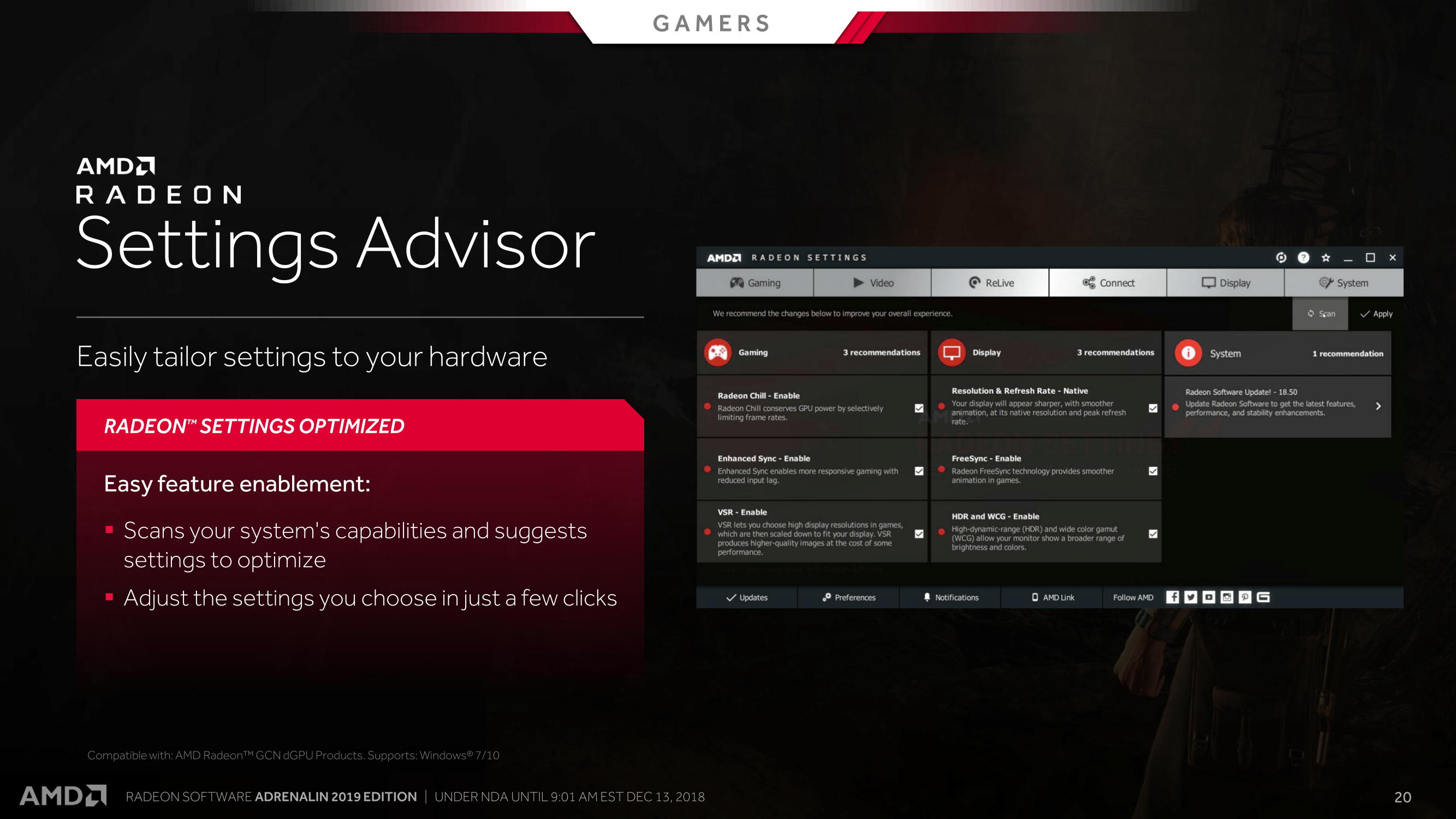 A Helping Hand with the 'Radeon Advisors' Recommendation Tools - AMD