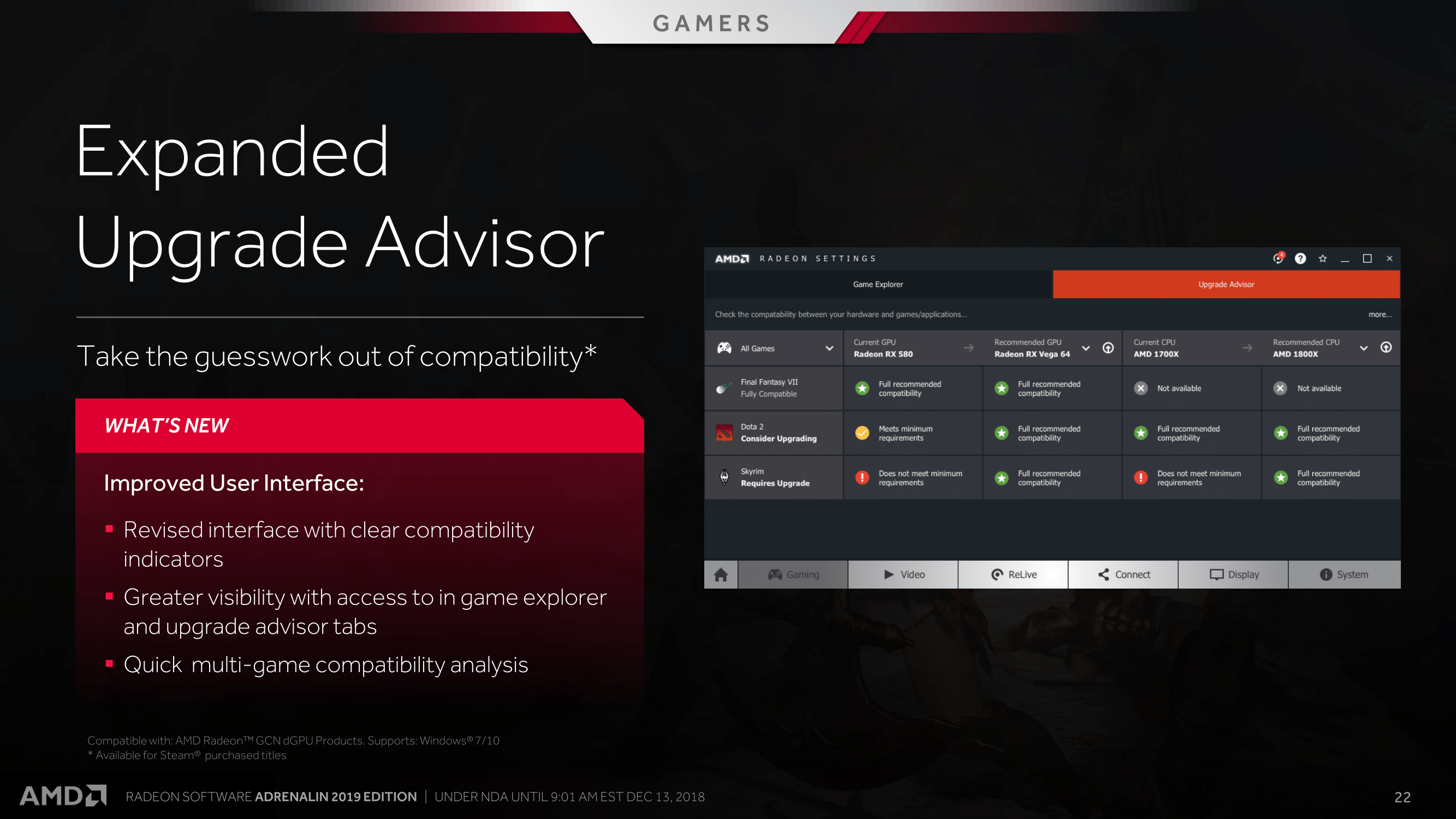 A Helping Hand with the 'Radeon Advisors' Recommendation
