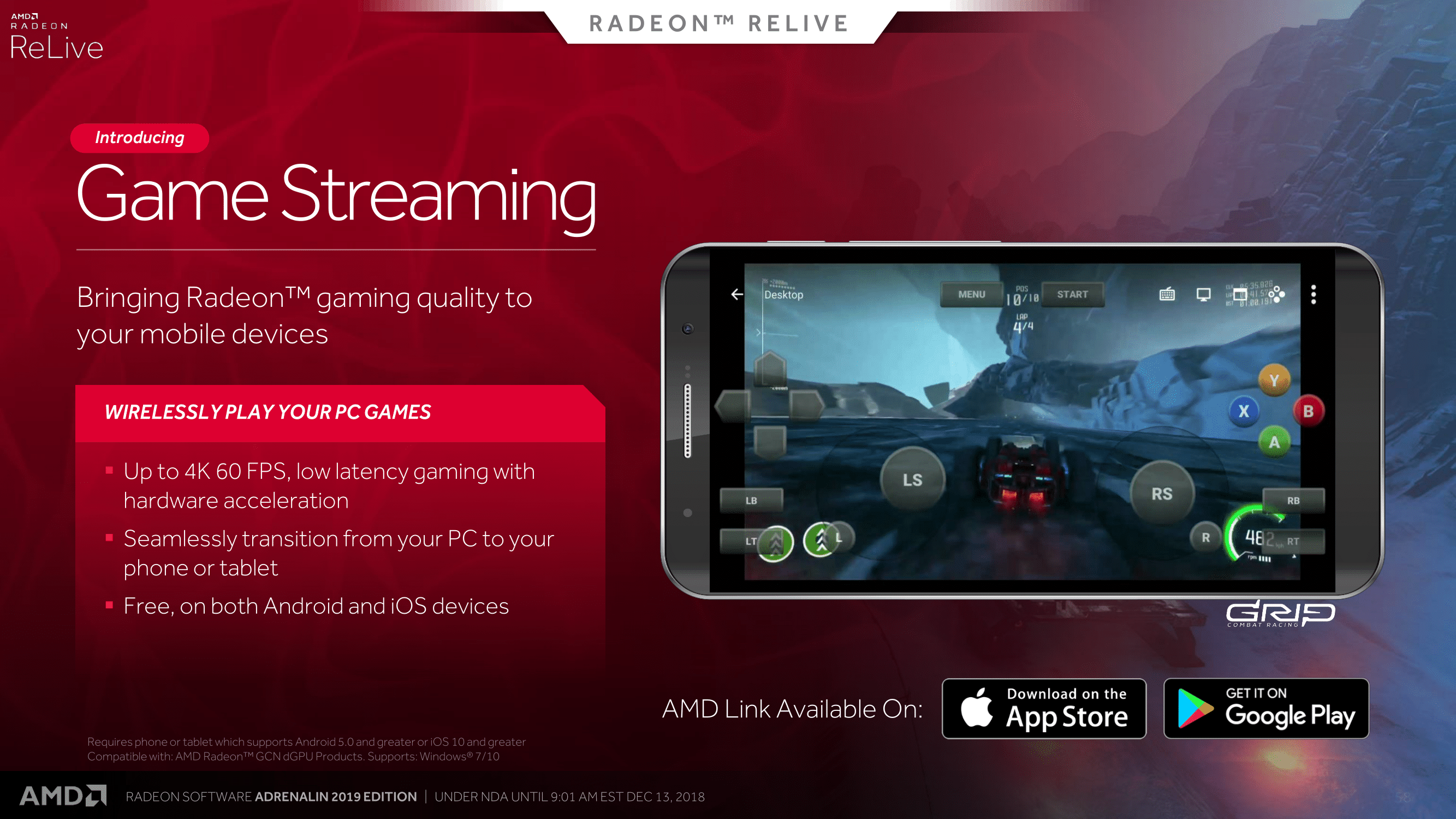Playing on Streams: Streaming PC Games to Mobile and VR - AMD