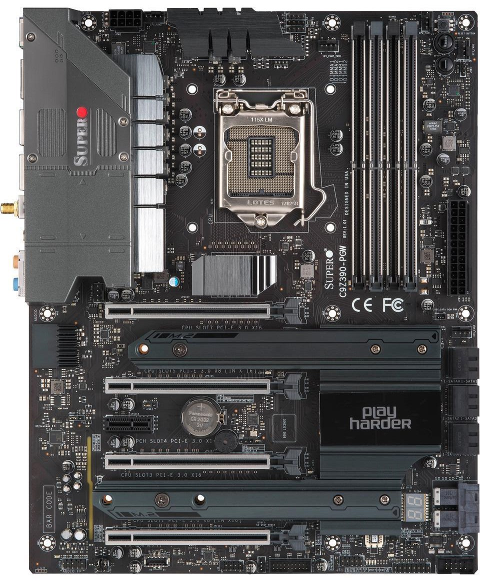 The Supermicro C9Z390-PGW Motherboard Review: The Z390 Board