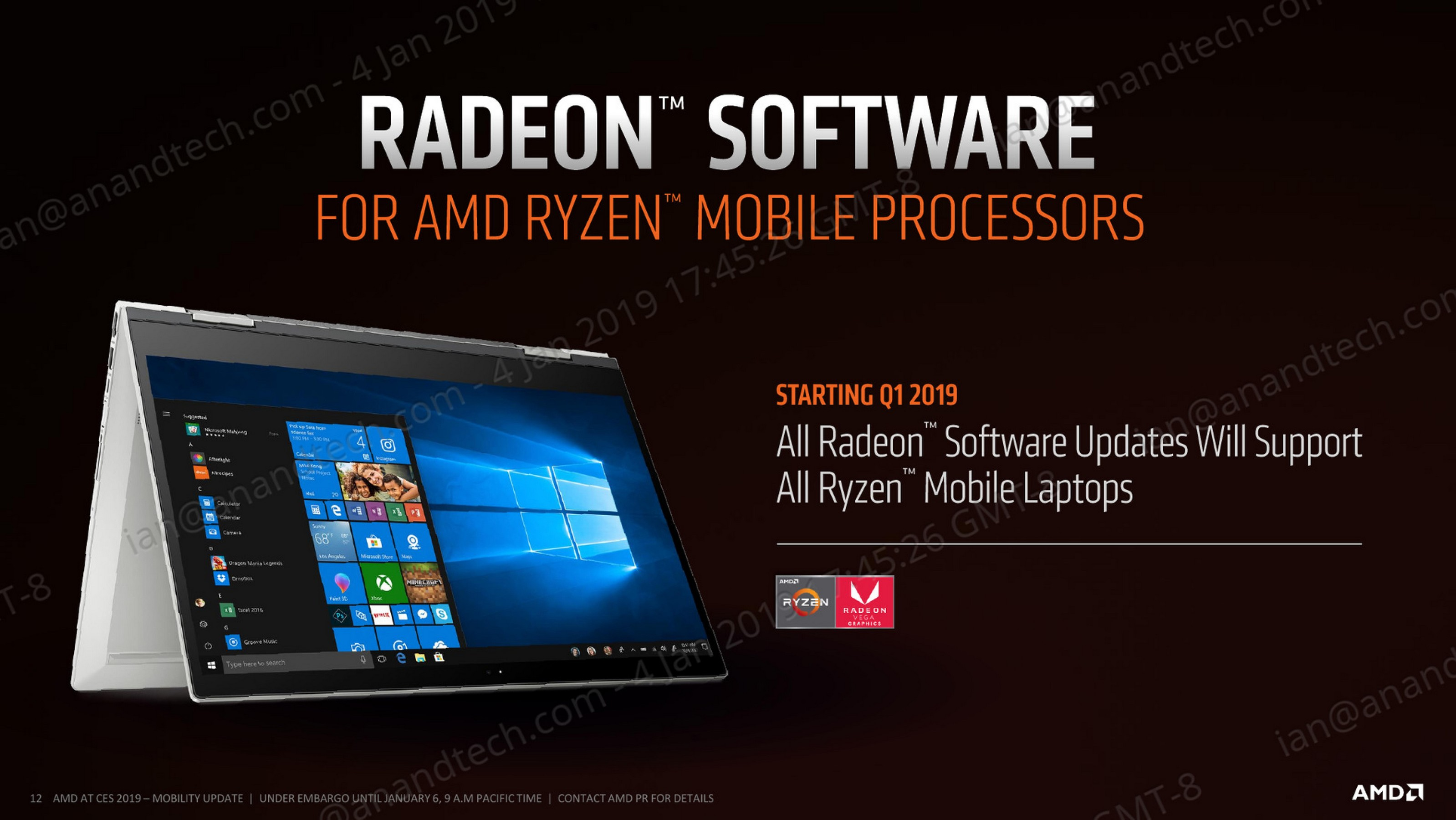 AMD at CES 2019: Ryzen Mobile 3000-Series Launched, 2nd Gen Mobile