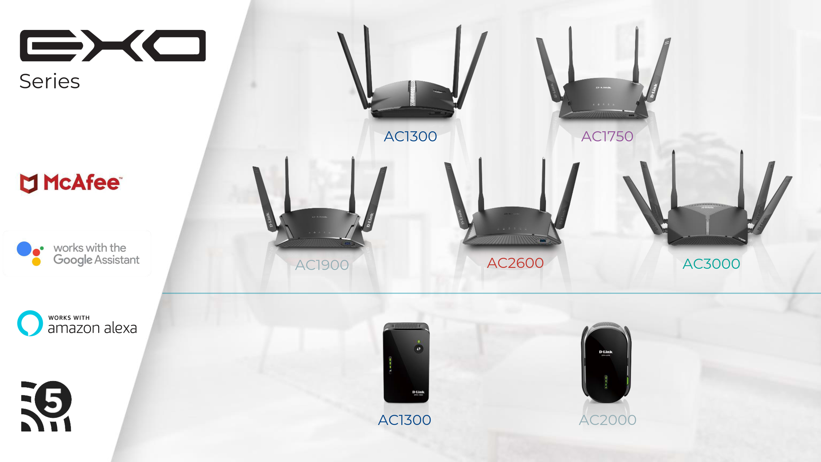 D-Link at CES 2019: Mesh-Enabled Exo Routers and Extenders with