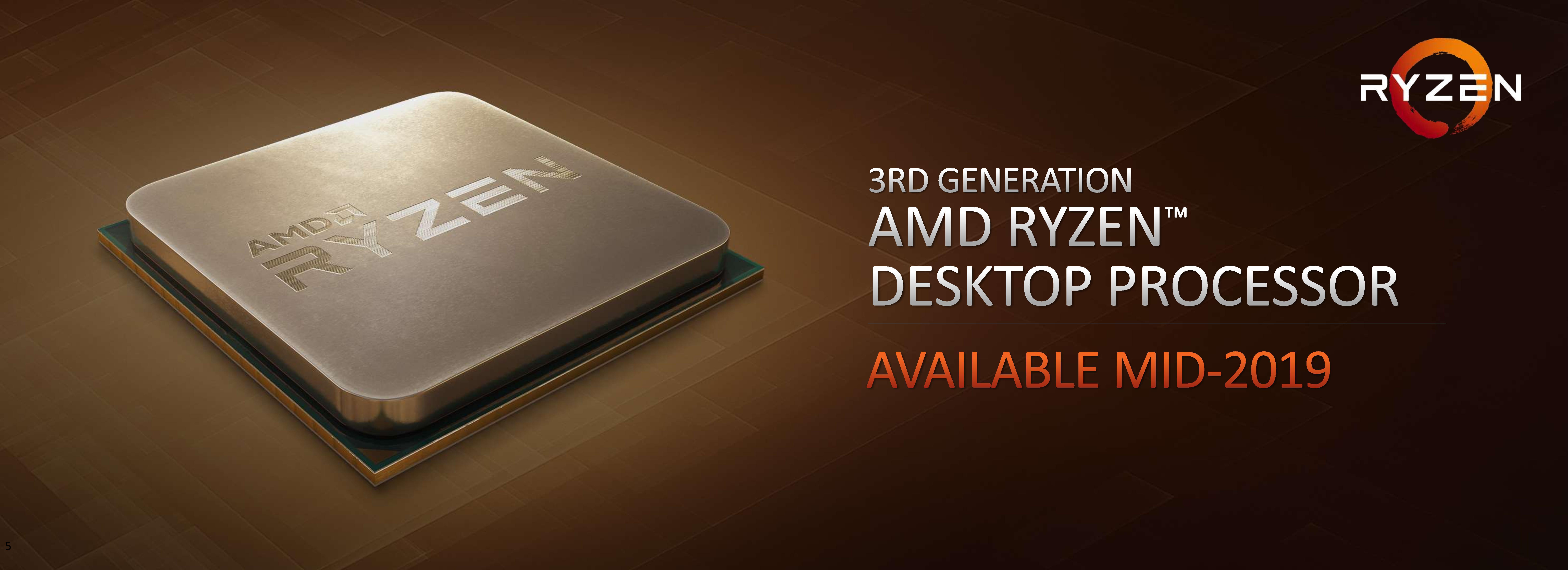AMD Ryzen 3rd Gen 'Matisse' Coming Mid 2019: Eight Core Zen