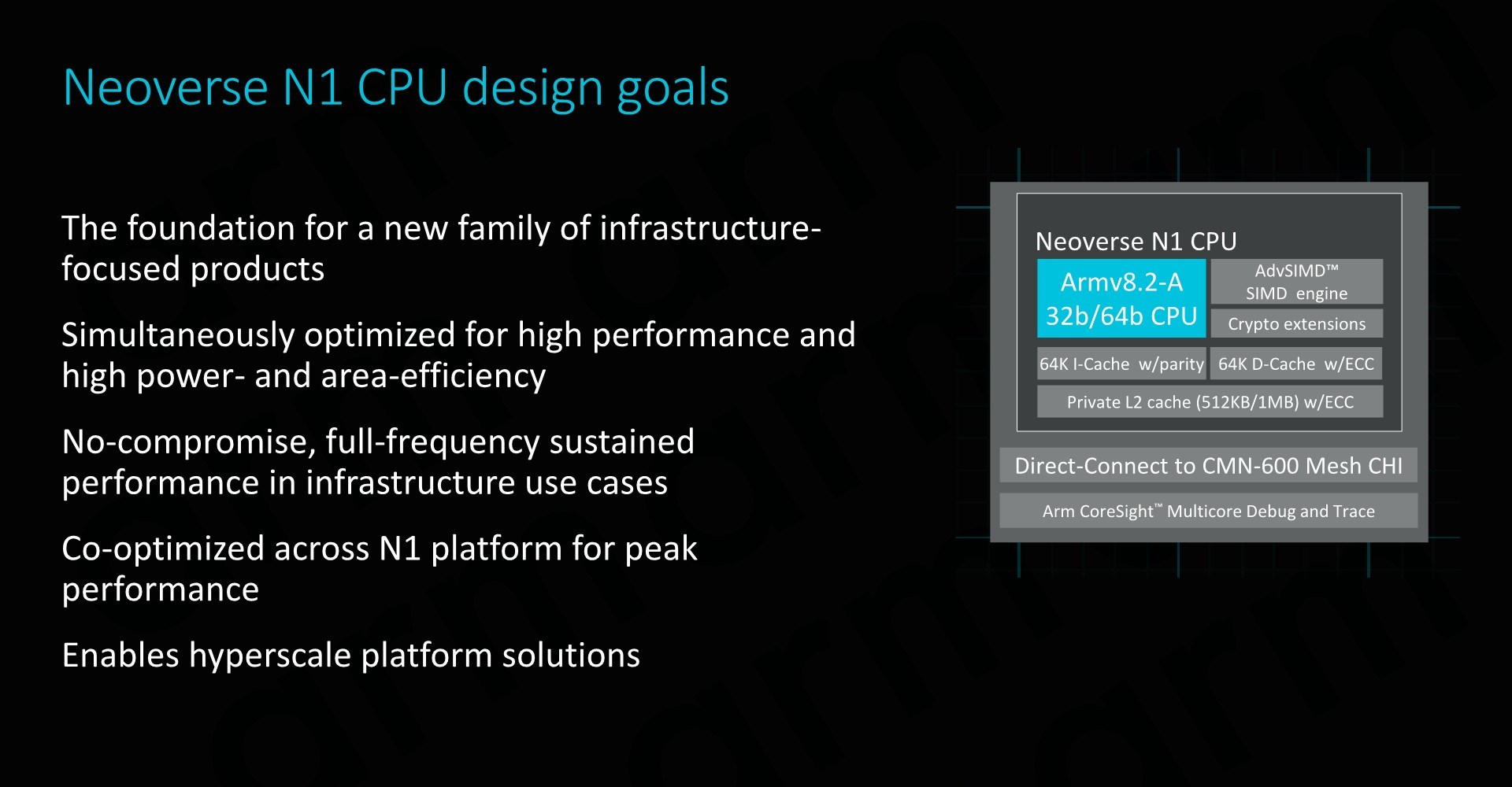 The Neoverse N1 CPU: No-Compromise Performance - Arm Announces