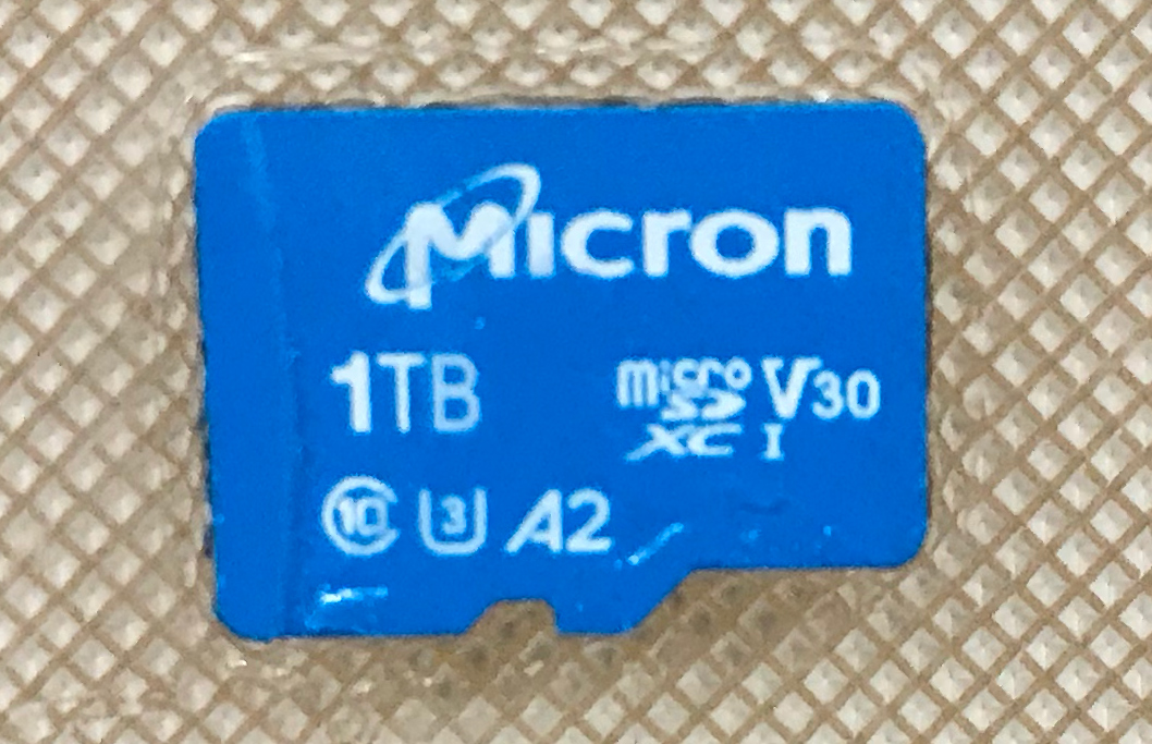 Micron and Western Digital Unveil 1 TB microSD Cards with A2