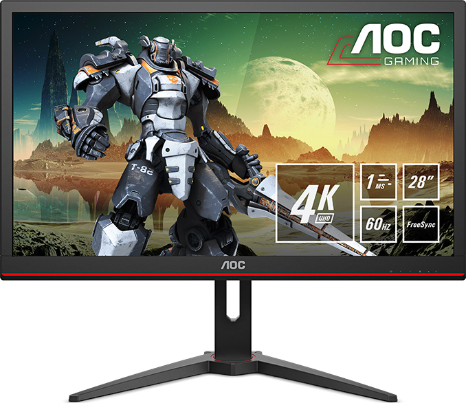 AOC Introduces Its G2868PQU Monitor: An Inexpensive 4K