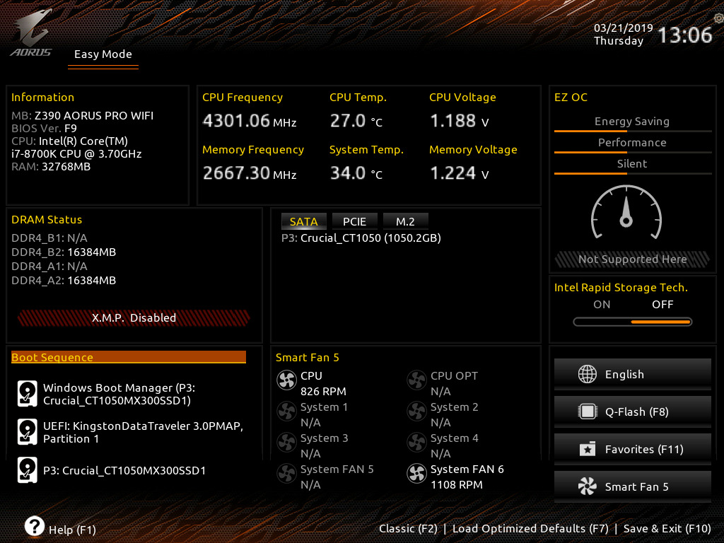 BIOS And Software - The GIGABYTE Z390 Aorus Pro WIFI Motherboard