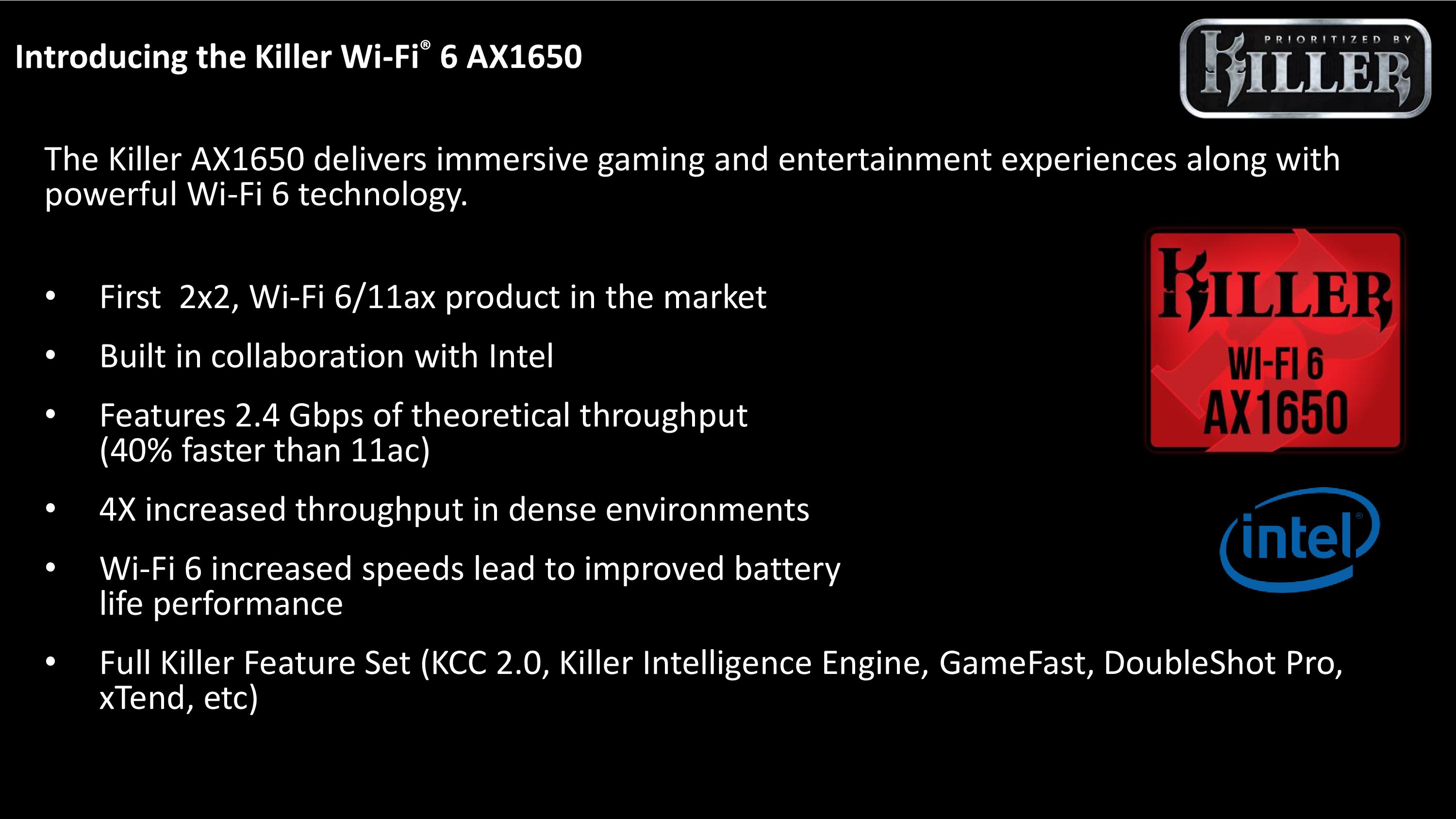 The Killer AX1650: A Wi-Fi 6 Chip Built on Intel