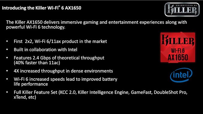 The Killer AX1650: A Wi-Fi 6 Chip Built on Intel - AnandTech 1
