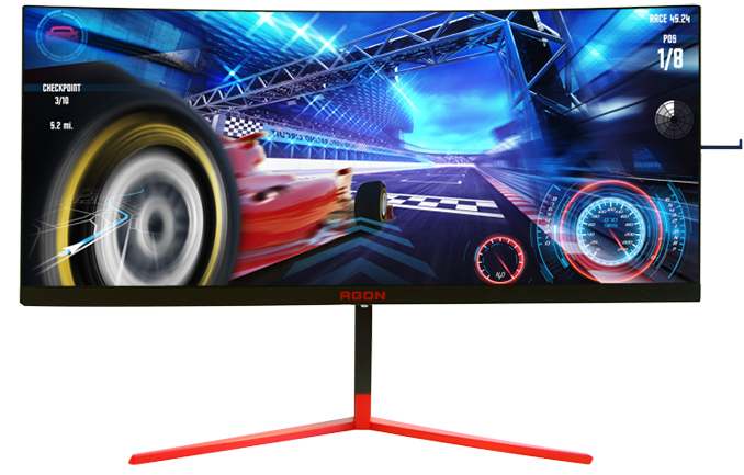 AOC Agon 35-Inch 200 Hz Curved 3440x1440 HDR Gaming Monitor with