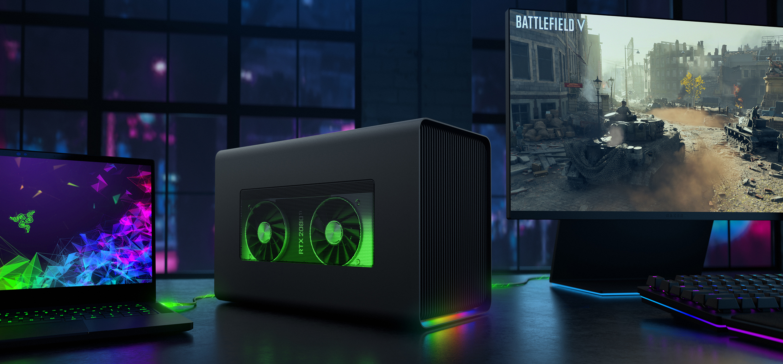 Razer Launches Core X Chroma TB3 eGFX Enclosure: 700 W, GbE, USB