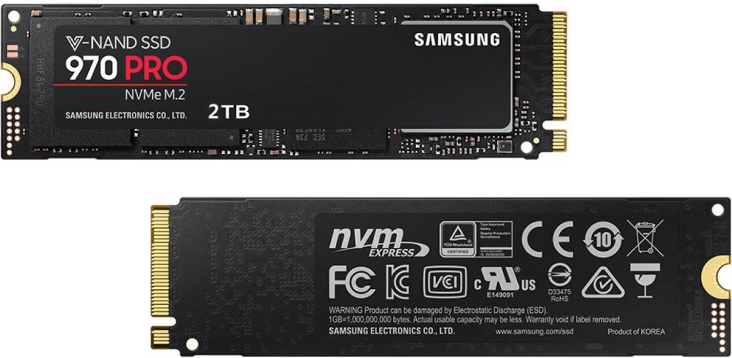 Samsung 970 Pro 2 TB SSD Model Listed