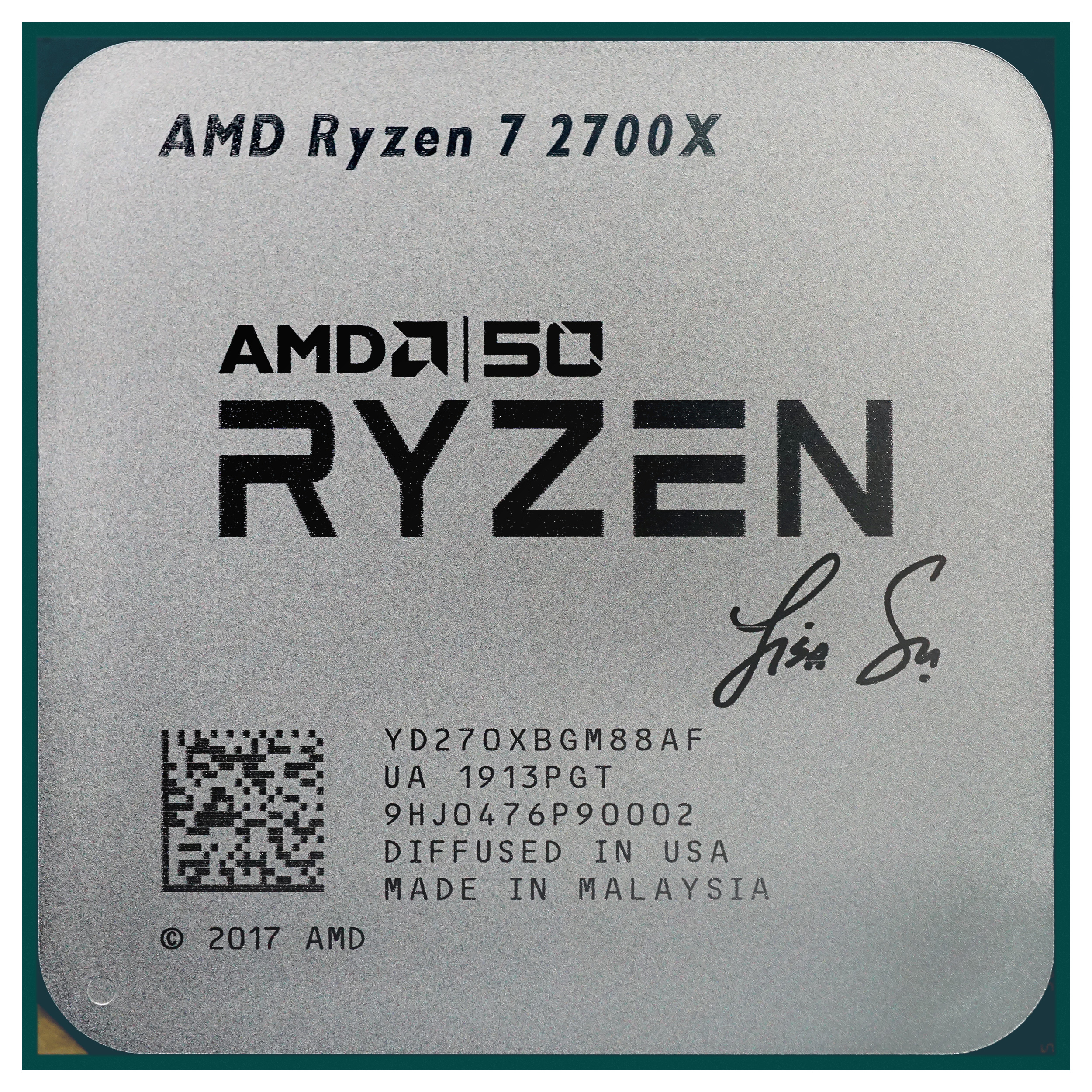 Amd 50th Anniversary Ryzen 7 2700x And Radeon Vii Gold