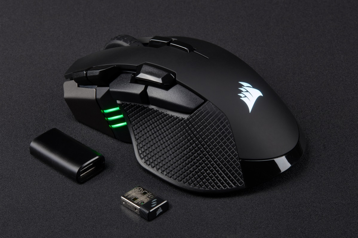 4e3d3a688af The palm gripped Corsair Ironclaw RGB wireless gaming mouse has an MSRP of  $80 and is available through most major retailers.