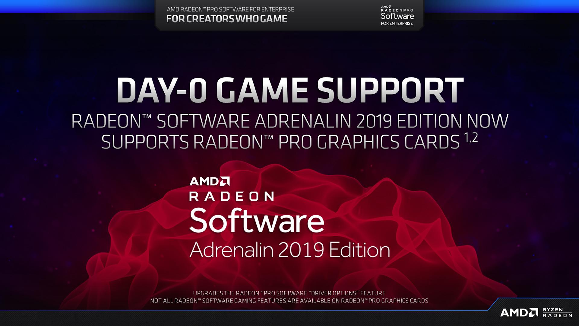 AMD Releases Radeon Pro Software for Enterprise 19 Q2