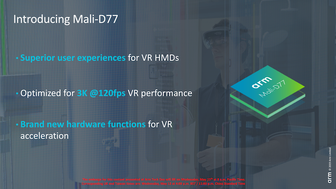 Arm Announces Mali D77 Display Processor: Facilitating AR & VR