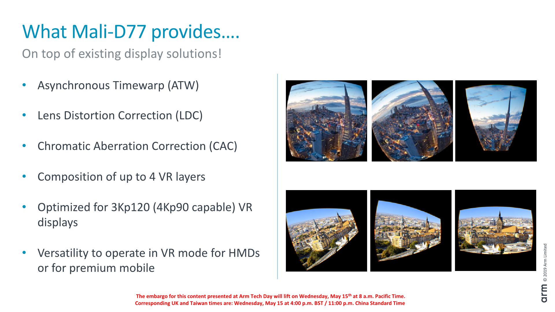 Arm Announces Mali D77 Display Processor: Facilitating AR & VR