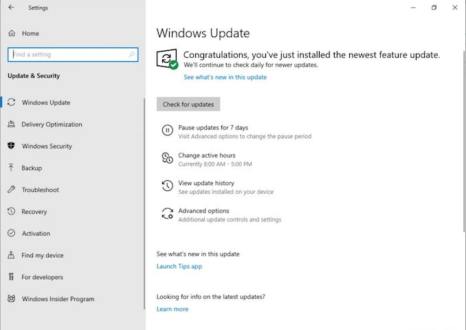 A New Approach To Updates: Windows 10 May 2019 Update