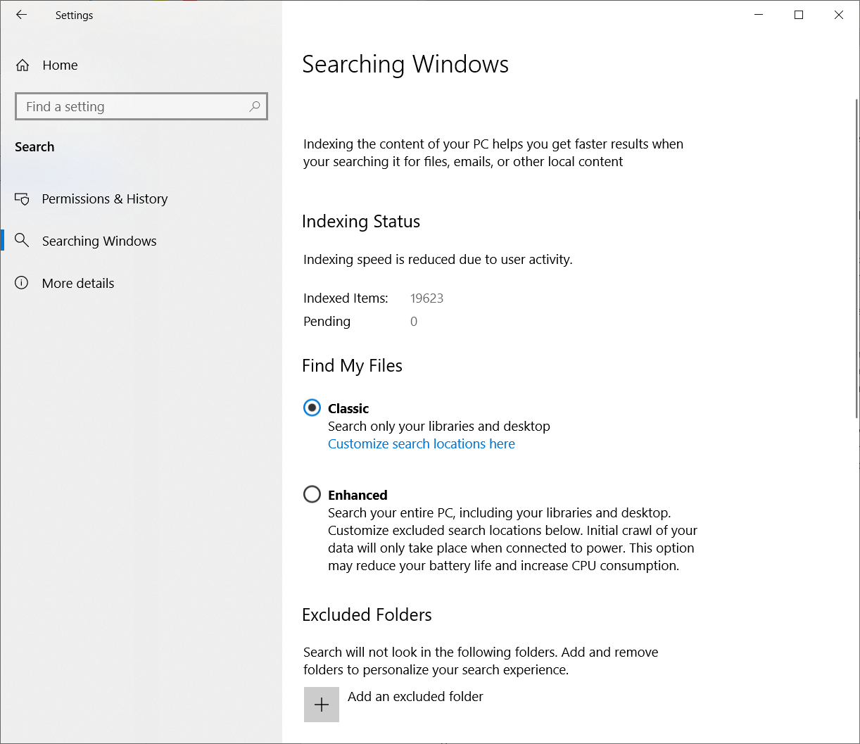 Search and Sign-In - Windows 10 May 2019 Update Feature
