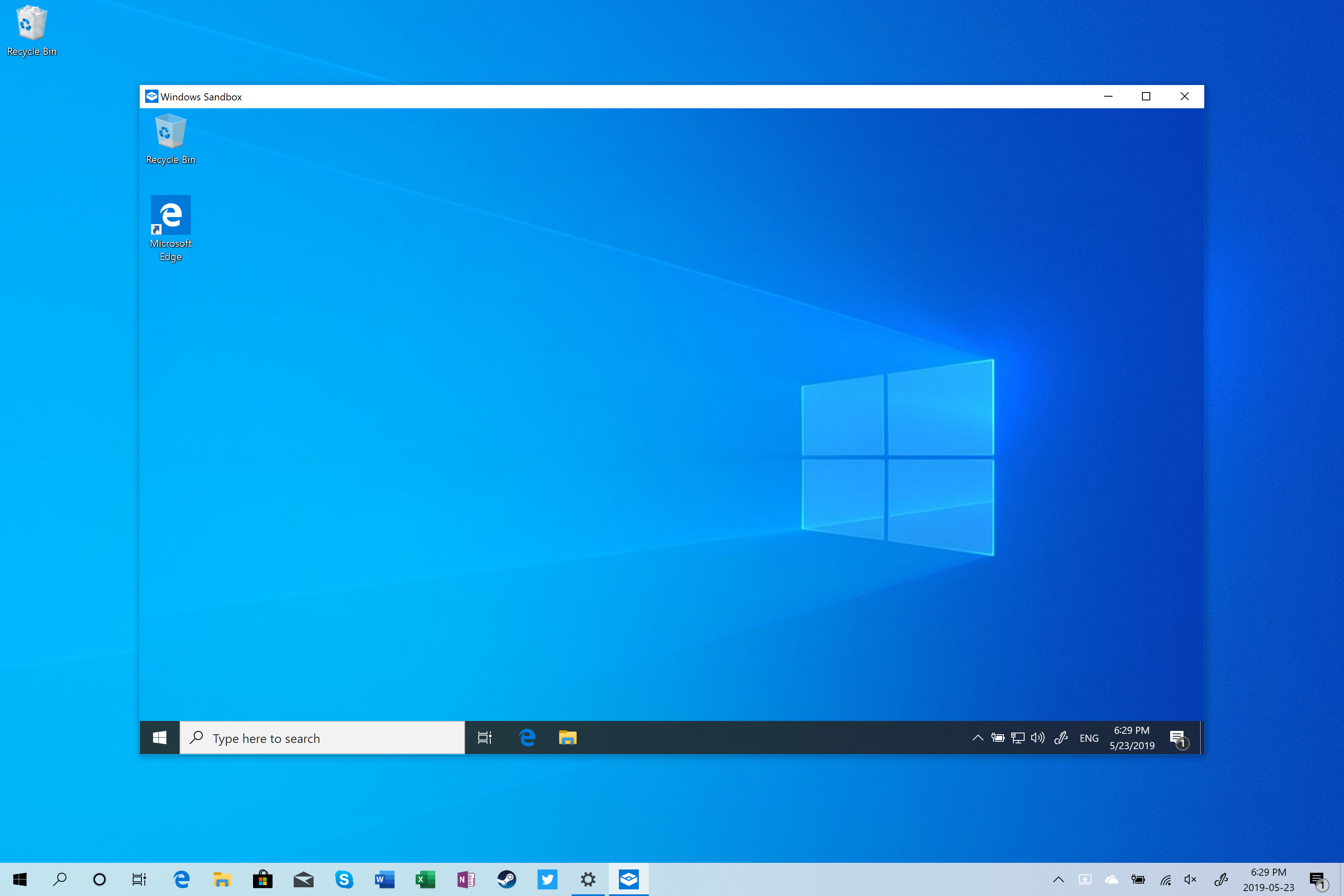 Windows Sandbox - Windows 10 May 2019 Update Feature Focus: Light